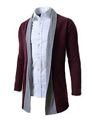 Manteaux & Vestes ( Coton/Lycra/Polyester ) Informel/Soirée/Travail Col chemise à Manches longues pour Homme