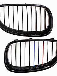 M-Color Shiny Black Grille Grill Kidney For BMW E60 E61 5 Series M5 03-09