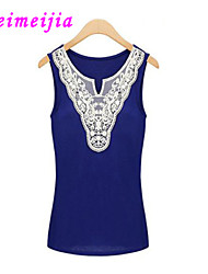 WeiMeiJia® Women's Lace Stretchy Sleeveless Regular Blouse (Lace)