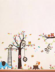 Animaux Bande dessinée Stickers muraux Autocollants avion Autocollants muraux décoratifs,Vinyle Matériel Amovible Décoration d'intérieur