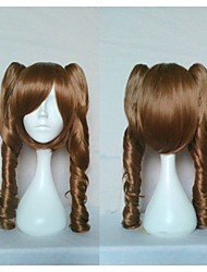 Freeshipping New Arrival Popular Cosplay Wig Party Wig Dark Brown  Long Curly  Animated Synthetic Hair Wigs Cartoon Wig