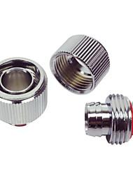 WT-040 G1 / 4 rosca 8 x cromo tubo de 12 mm de latón chapado en conjunto - plata