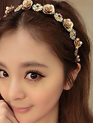 Lureme®Vintage Style  Baroque Flower Pearl Alloy Hair Accessories