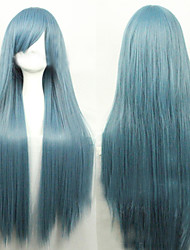 Cosplay Hot Models High-quality Synthetic Wig 80cm High Temperature Wire Straight Hair   Long Straight Hair