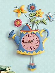 Spring Vase Wall Clock