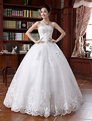 Princess Wedding Dress - Ivory Floor-length Strapless Tulle