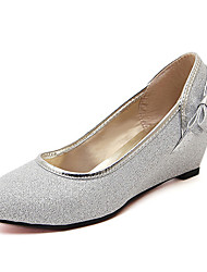 Women's Shoes Glitter Wedge Heel Round Toe Pumps with Bowknot  Shoes More Colors available
