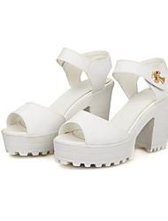 Sandales/Pompes / Talons ( Bleu/Rose/Blanc Chaussures à talons/Confort/Escarpin-sandale/Spartiates - Gros talon - Cuir - pour FEMMES