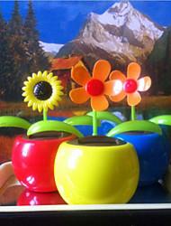 Solar Energy Flower Car Furnishing Articles (Random Pattern)