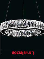 Crystal LED Pendant Light Lighting Modern Single Rings D80CM K9 Large Crystal Indoor Ceiling Lights Fixtures