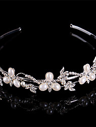 Women Pearl/Sterling Silver/Rhinestone Headbands With Wedding/Party Headpiece