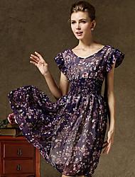 ICED™ Women's V Neck  Floral Print Bohemian Dress(More Colors)