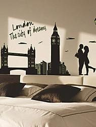 adesivos de parede adesivos de parede luminosos, estilo de parede londres pvc adesivos