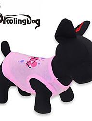 T-shirt voor honden / katten Roze Lente/Herfst XS / S / M / L Katoen