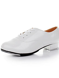 Kids'/Women's /Men's  Flat Tap Leather Dance Shoes