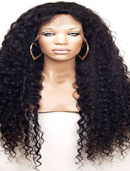 Grade 7A Top Quality Virgin Brazilian Full Lace Wig Kinky Curly Human Hair For Black Women With Baby Hair