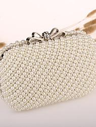Handcee® Women Fashion Both Sides Pearl Beaded Clutch Handbag/Rhinestone Butterfly Beaded Evening Bag
