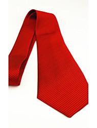 Stripe Jacquard Men Polyester Silk Tie Red Yellow Blue Black Purple