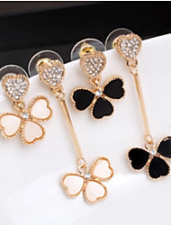Lucky Star Women's Fashion Rhinestone Flower Earrings More Color