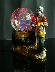 Skeleton entered three-wheeled motorcycle the magic lamp The crystal light