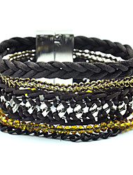 Vintage/Party/Casual Others Link/Chain/Beaded/Stacked/Braided/Cord Bracelet