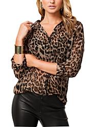 morefeel Frauen Leopard-T-Shirt