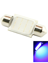 36mm 3W COB LED 200lm Blue Light Dome Festoon Reading Bulb Lamp for Car (DC 12V)