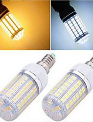 1 pcs  E14 15W 69LED  SMD 5050 1200 LM 2800-3500/6000-6500 K Warm White/Cool White Corn Bulbs AC 220