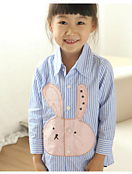 Girl's Fashion Rabbit Stripe Long Sleeve Shirts