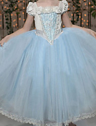 Girl's Summer/Spring/Fall Micro-elastic Medium Dresses (Cotton Blends)