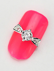 10PCS RG123 Clear color Luxury Zircon 3D Alloy Nail art Decoration Diamond Nail Salon Supplier DIY Accessories
