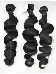 "3Pcs /Lot +10""-28""Brazilian Cheap Hair Extensions Wave Unprocessed Grade Girl Remy  Hair Sexy Loose Wave Curl Hair"