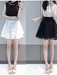De las mujeres Vestido Midi Encaje - Sin Mangas