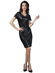 sexy / bodycon / casual / festa das mulheres / vestido de manga curta