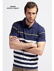 John cabot 2015 brand Fashion Polo shirt stripe men short sleeve casual dress world famous Man's Polo shirts