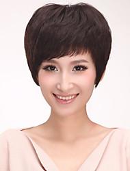 Capless Short Straight Human Hair Wigs