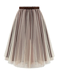 Women's Fashion Europe Station Organza Casual Skirts