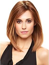 высокое качество монолитным средней волнистые моно топ парики человеческих волос 4 цвета на выбор