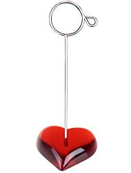 segnaposti e titolari piatto rosso filo della medaglia basamento cuore titolare della carta posto foto promemoria di clip