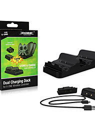 Daul Rechargeable ABS/Plastic Chargers for Xbox One with 2x 1200 mAh Batteries