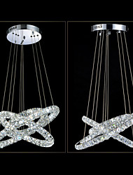 LED Pendant Lights Lighting Modern D406080 3 Rings Three Sides K9 Crystal Indoor Ceiling Lights Lamp Fixtures