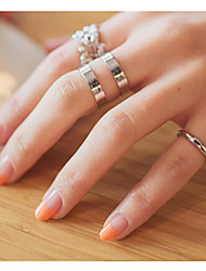 Women's Fashion Leaf Shape Ring Set/Three-Piece Joint Ring