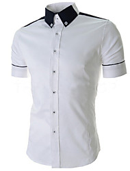 Pistons,Men's Vintage/Casual/Party/Work Short Sleeve Casual Shirts (Cotton/Rayon)