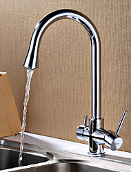 HPB® Deck Mounted Two Handles One Hole with Chrome Kitchen faucet