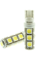 T10  149  W5W LED 3.5W  Blue/Red/Warm White/Green/Yellow/White 13X5050SMD 140LM   for Car Light Bulb  (DC12-16V)