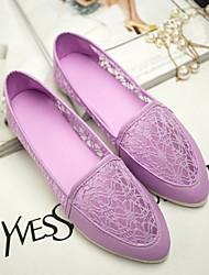 Women's Shoes Flat Heel Moccasin Flats Casual Black/Pink/Purple/White