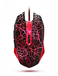 Dare-u MINI WARANGLER Edition G60 6 LED Backlight Free Switch 6 Level DPI USB Wired Gaming Mouse(Red and Black)
