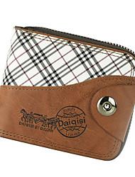 WEST BIKING® Men's Wallet Male Purse Practical Multifunction Transverse Suction Button Zipper Card Purse Coin Wallet