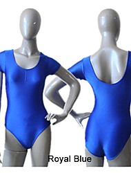Shiny Nylon/Lycra Short Sleeve Leotards with Drawstring Front More Colors  for Girls and Ladies