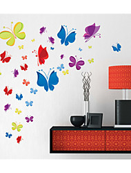 Wall Stickers Wall Decals, Cartoon Butterfly PVC Wall Stickers